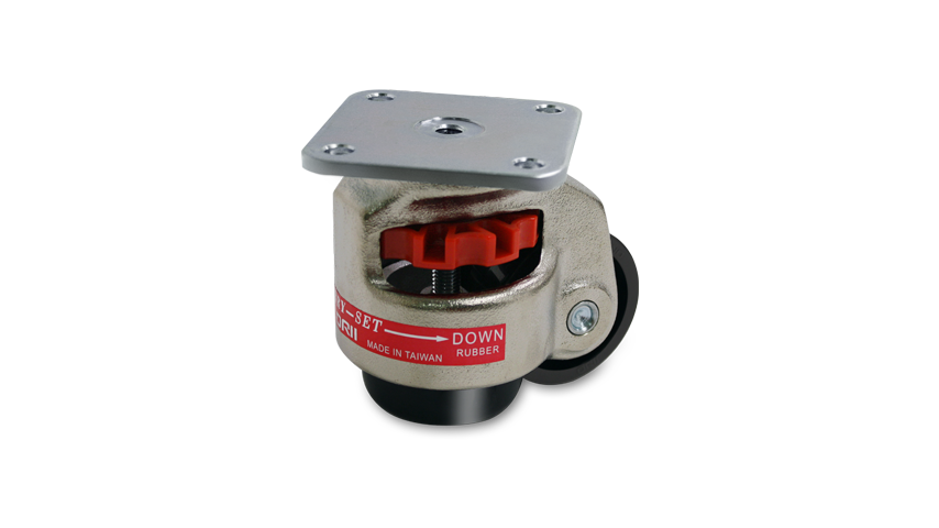 Caster with anti-vibration function